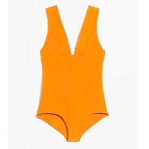 & Other Stories V-cut One Piece Swimsuit Size 10